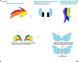 NEW rainbowdash cubee craft part 2 by Mallinda