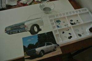 Car in progress by Sijah