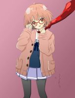 Mirai Kuriyama from Beyond the Boundary by Yangspirit