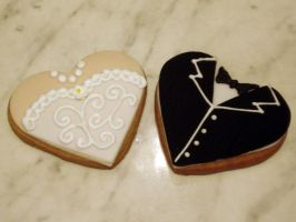 Bride And Groom Cookies by Sliceofcake