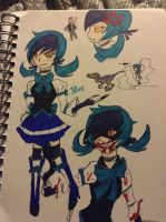 Blue in anime style  by futurezoologist