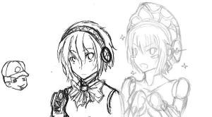 Persona 3 - Aigis and Metis by Reibu