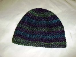 Shiny green, purple, blue hat by K-especial