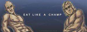 Eat Like a Champ Banner by NateFlamm