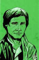 Han Solo in Trench Coat Fan Days commission 2012 by Barnlord