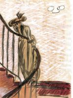 'Lady on the stairs' by Zhaana
