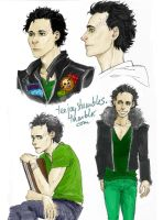 amnesiac Loki sketches by TashinaJacob