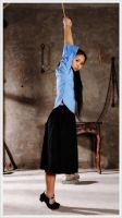 HJ May Fourth Student (02) Hands Tied Above Head by D-ZHANG-PHOTOGRAPHY