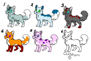 3 Point adoptables OPEN by thedoomedkitteh