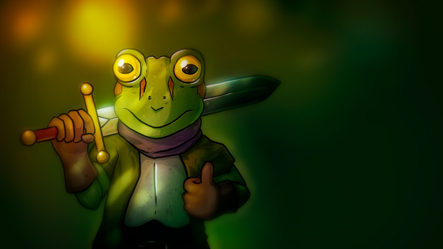 Frog from Chrono Trigger (SNES) by AaronRutten
