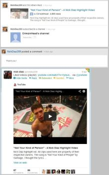 Nick Diaz liked my video :D by CrimsinHead