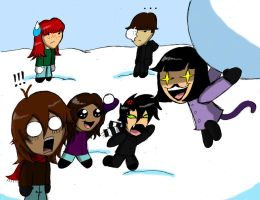 Snowball Fight! (Request) by geekgirl8