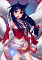 Ahri from League of Legends by husaria-chan