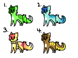Kitteh Adopts - Set 6 .:Closed:. by solstice5
