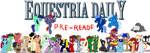 Equestria Daily Pre-Reader Banner by Alexstrazse