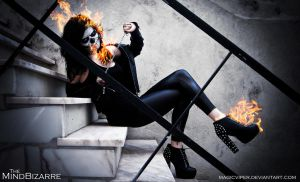Female Ghost Rider by MagicViper