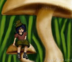 Schnitzel the Leprechaun by ineptartist