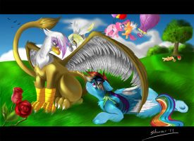 Gilda and RainbowDash by Shnider