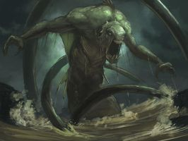 Kraken rough 4 by LozanoX