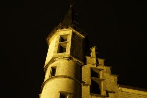 Castle Tower in the night by 13love88