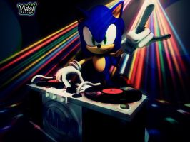 Sonic the HedgeHog DJ 3D (For DJ-Kanjo) pose02 by Vidal-Design