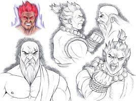 Akuma Sketch 2 by tyller16