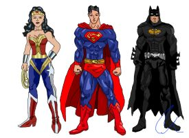 My Justice League: Batman, Superman, Wonder Woman by LavenderRanger