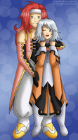 [Commission101] Tales of Symphonia: Zelos x Raine by izka-197