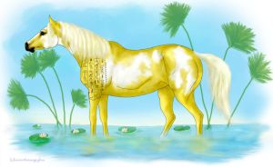 Egyptian Palomino by vixentheangryfox