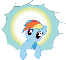 Rainbow Dash is God by Yodita