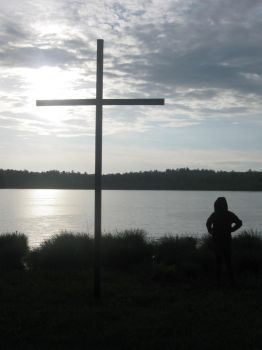 Water and cross by xximadinoxx