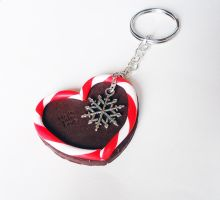 Xmas Keychain - heart by FrozenNote