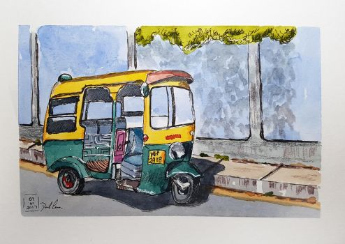 Tuk Tuk by DavesWatercolour