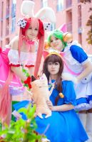 Di gi charat three friends by Kamelia2000