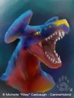Garchomp in iscribble by CanineHybrid