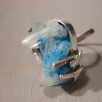 Ice age - Cavansite and sterli by Jealousydesign