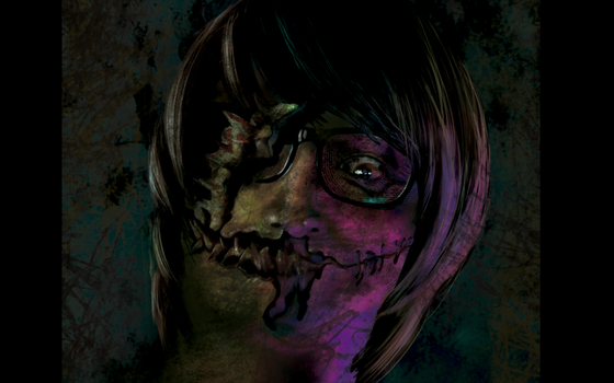 Face Monster Ilustration by HelenaIlus