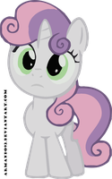 Sweetie Belle Confused Vector by armando92