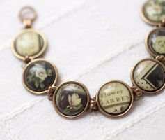 Flower garden Bracelet by BeautySpotCrafts