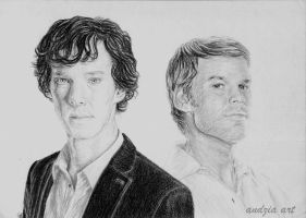 Sherlock vs. Dexter by Anna655
