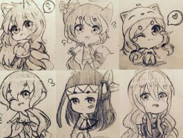 Traditional Chibi Requests by IDKismyname