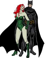Batman and Poison Ivy by Salamandra88