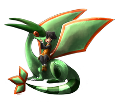 Amber and Nae the Flygon by yassui