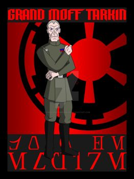 Officers of the Empire: Grand Moff Wilhuff Tarkin by TheScarletMercenary