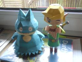 Link and Munchlax by Nespar