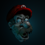 Haunted Mario 3d Sculpt from Blender by TheClawTheySay