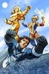Mightyman and the Club of Heroes color by phil-cho