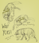Wolf YCHs 3 (ONE OPEN) by Canis-ferox