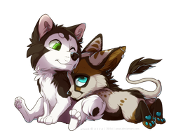 chibi_com_Hallet and Silia by azzai