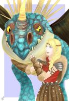Astrid and Stormfly by blue-ann